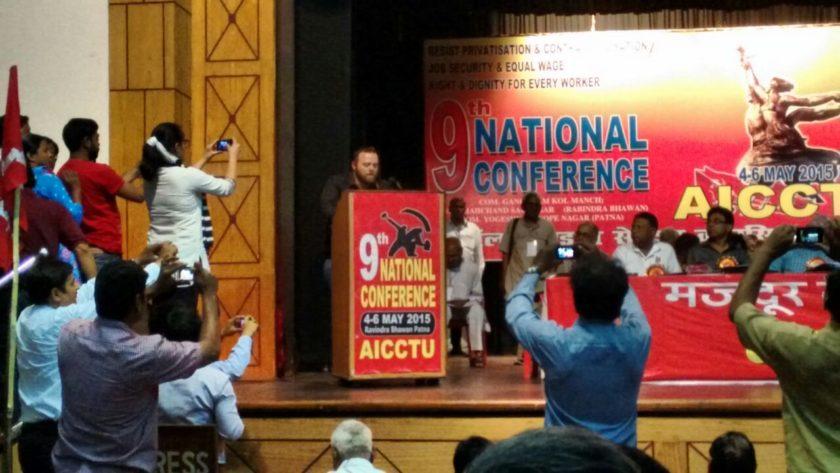 wftu representative nikolaos speaking